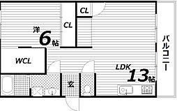 エード白川[4階]の間取り