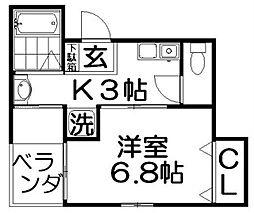 URO桜木[1階]の間取り