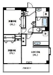 神奈川県川崎市高津区北見方1丁目の賃貸マンションの間取り