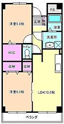 大阪府枚方市出口1丁目の賃貸アパートの間取り