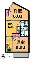 月村マンションNo19[1階]の間取り