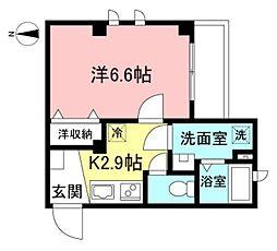 京王線 笹塚駅 徒歩7分の賃貸マンション 1階1Kの間取り