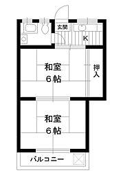 東京都練馬区谷原4丁目の賃貸アパートの間取り