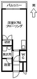 花見コーポ[105号室]の間取り