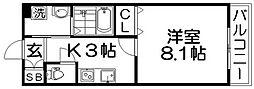 仮称)甲斐田東町 共同住宅[2階]の間取り