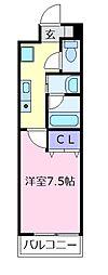チエロマレ天美東[6階]の間取り