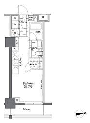 JR山手線 御徒町駅 徒歩2分の賃貸マンション 6階ワンルームの間取り