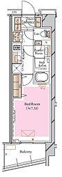 京急空港線 糀谷駅 徒歩4分の賃貸マンション 4階1Kの間取り
