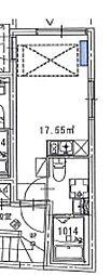 西武新宿線 野方駅 徒歩2分の賃貸マンション 3階ワンルームの間取り