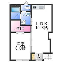 JR紀勢本線 紀三井寺駅 徒歩14分の賃貸アパート 1階1LDKの間取り