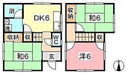 [一戸建] 岡山県総社市金井戸 の賃貸【/】の間取り