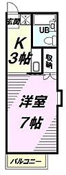 東京都八王子市絹ケ丘2丁目の賃貸アパートの間取り