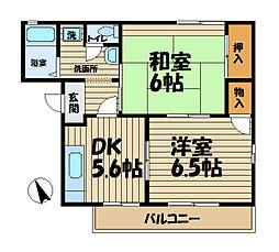 鎌倉日野屋[202号室]の間取り
