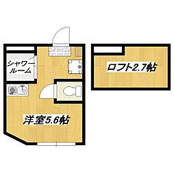 アパートメンツ東京西小岩[208号室]の間取り