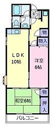 サンハイム上野[4階]の間取り