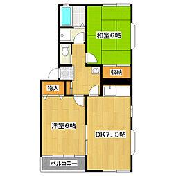 オイコス・ガーデンD棟[3階]の間取り
