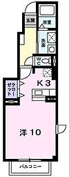 愛知県豊田市緑ケ丘4丁目の賃貸アパートの間取り