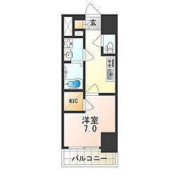 Osaka Metro中央線 朝潮橋駅 徒歩5分の賃貸マンション 12階1Kの間取り