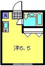 神奈川県横浜市港北区大倉山3丁目の賃貸アパートの間取り