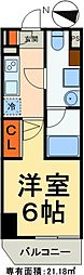 JR常磐線 松戸駅 徒歩7分の賃貸マンション 9階1Kの間取り