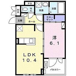名古屋市営東山線 藤が丘駅 徒歩28分の賃貸アパート 2階1LDKの間取り