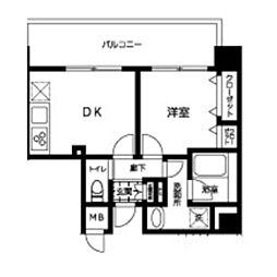 JR総武線 錦糸町駅 徒歩9分の賃貸マンション 5階1DKの間取り