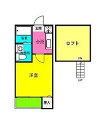 ロフトH&AII[2階]の間取り
