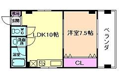 コーポ阪神[3階]の間取り