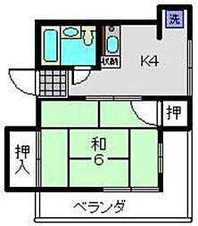 斉藤ビル 2階1DKの間取り