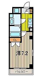 JR京浜東北・根岸線 与野駅 徒歩3分の賃貸マンション 3階1Kの間取り