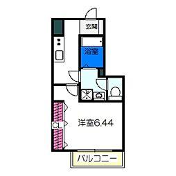 近鉄南大阪線 高見ノ里駅 徒歩5分の賃貸アパート 1階1Kの間取り