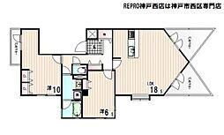 兵庫県神戸市西区井吹台東町1丁目の賃貸マンションの間取り