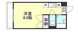 JOY連島[203号室]の間取り