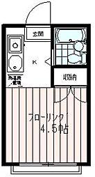 南野ハイツE号棟[2階]の間取り