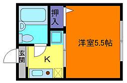 兵庫県神戸市東灘区田中町4丁目の賃貸マンションの間取り