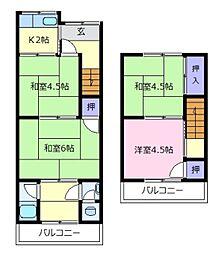 [テラスハウス] 大阪府松原市立部1丁目 の賃貸【/】の間取り