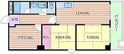 KDKビル[4階]の間取り