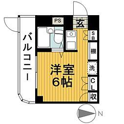 ジェイラム横濱[101号室]の間取り