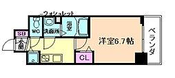 プレサンス塚本グランゲート[9階]の間取り