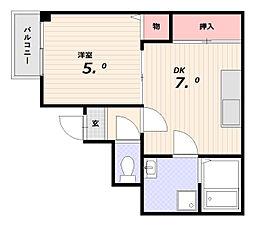 タミーコート[2階]の間取り