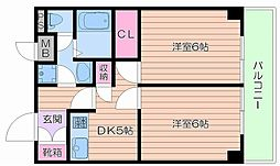 大阪府大阪市北区樋之口町の賃貸マンションの間取り