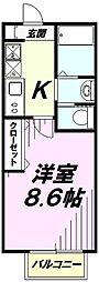 埼玉県所沢市和ケ原1丁目の賃貸アパートの間取り