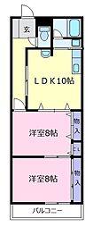 309プラザ[3階]の間取り