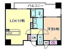 リーガル梅田[9階]の間取り