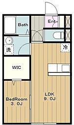 Dreamer House 2階1LDKの間取り