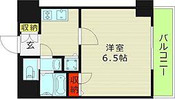 ララプレイス・ザ・京橋ステラ 2階1Kの間取り