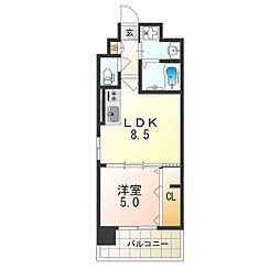 阪急京都本線 上新庄駅 徒歩6分の賃貸マンション 1階1LDKの間取り