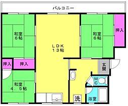 ステラ加古川 3号棟[3階]の間取り