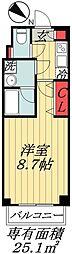 東京メトロ東西線 行徳駅 徒歩10分の賃貸マンション 1階1Kの間取り