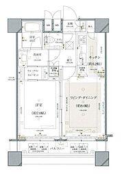 ファーストリアルタワー新宿(旧 アクス・ザ・タワー新宿) 22階1LDKの間取り